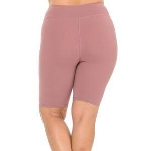 Mauve Basic Solid Plus Size Shorts - 3 Inch